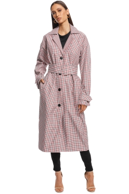 Camilla and Marc - Eleta Check Coat - Red Plaid - Front