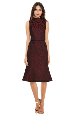 Camilla & Marc - Monochrome Dress - Maroon - Front
