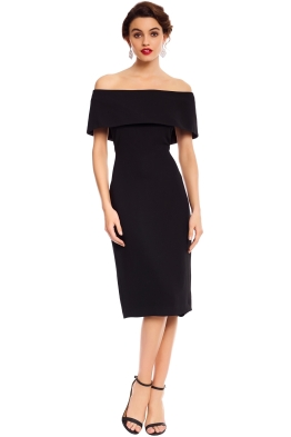 Carla Zampatti - Black Sabrina Sheath Dress - Black - Front