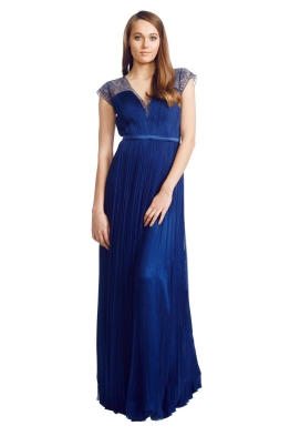 Catherine Deane - Silk Tulle Gown - Front - Blue