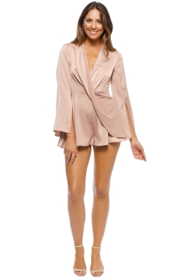CMEO - Influential Playsuit - Sand - Front