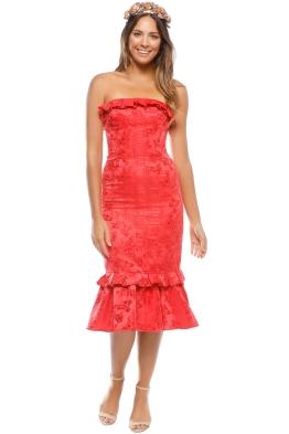 CMEO - Levity Midi Dress - Cherry - Front