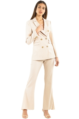 CMEO Collective - Go From Here Blazer & Pant Set - Nude - Front