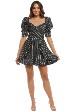 CMEO Collective - Moments Apart Dress - Navy Stripe - Front