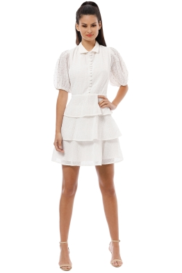 CMEO Collective - Think About Me Mini Dress - Ivory - Front