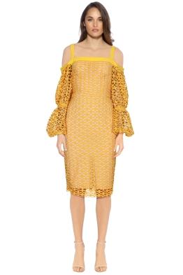 Cooper St - Karlie Lace Bloom Dress - Marigold - Front