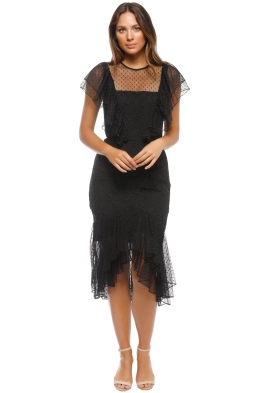 Cooper St - Rosie Lace Ruffle Dress - Black - Front