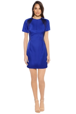 Dion Lee - Bonded Satin Mini Dress - Blue - Front