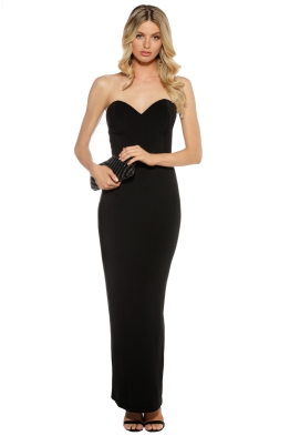 Eileen Kirby - Sweetheart Gown - Black - Front