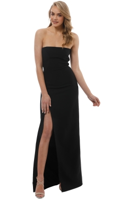 Elizabeth and James - Seiler Strapless Stretch Cady Maxi Dress - Black - Front