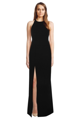 Elizabeth and James - Ventus Halter Neck Twill Gown - Front