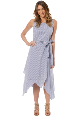Elka Collective Gisele Dress - Blue Stripe - Front