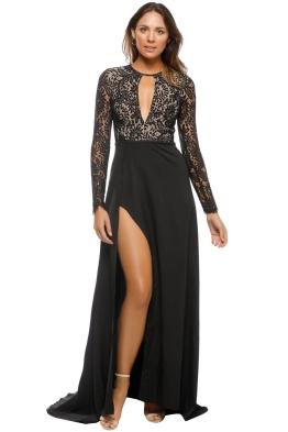 Elle Zeitoune - Alexandria Black Gown - Black - Front