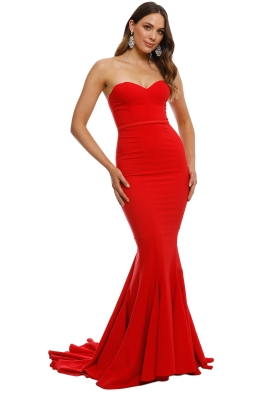 Elle Zeitoune - Arianna Gown - Red - Front