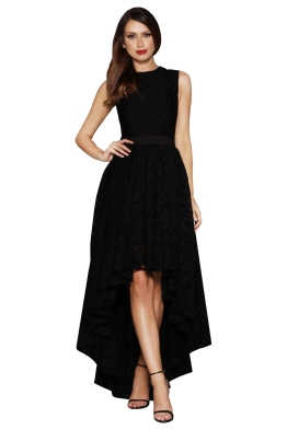 Elle Zeitoune - Brandy Black Dress - Black - Front