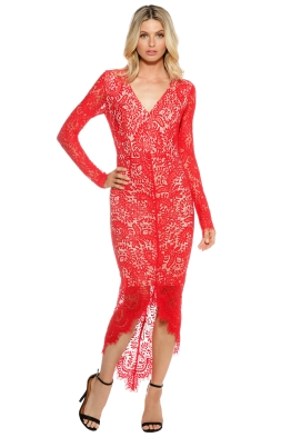 Elle Zeitoune - Cameron Dress - Red - Front