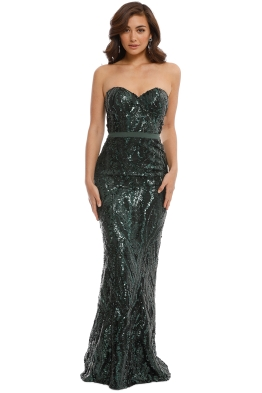 Elle Zeitoune - Gina Dress - Emerald Green - Front