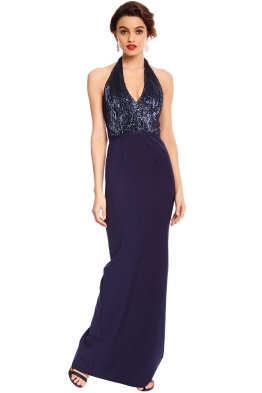 Elle Zeitoune - London Navy Gown - Navy - Front