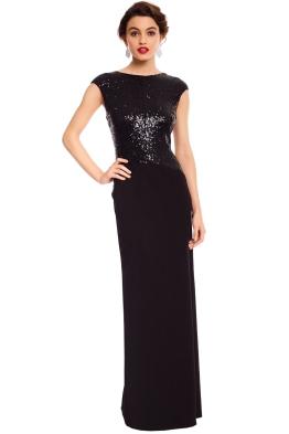 Elle Zeitoune - Ruby Black Gown - Black - Front