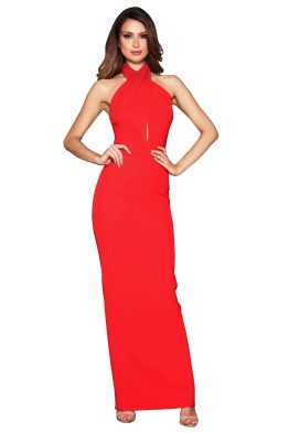 Elle Zeitoune - Winona Red Gown - Front