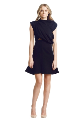 Ellery - Bonsai Ruched Dress - Black - Front