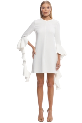 Ellery - Kilkenny Frill Sleeve Mini Dress - Ivory - Front