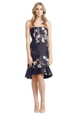 Ellery - Ten Pin Strapless Dress - Front - Black