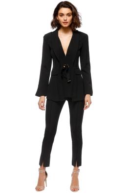 Elliatt - Ceremony Jacket and Pant Set - Black - Front