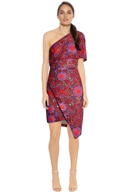 Elliatt - Cosmic Dress - Berry Print - Front