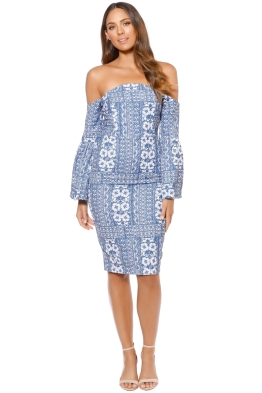 Elliatt - Manet Midi Dress - Blue - Front