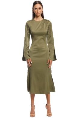 Elliatt - Noble Dress - Khaki - Front