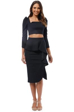 Elliatt - Phoebe Top and Skirt Set - Navy - Front