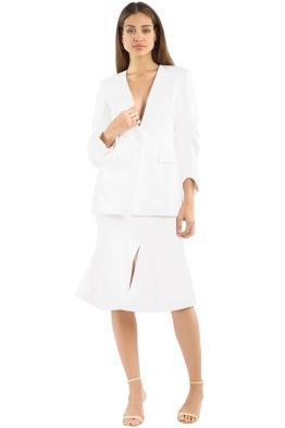 Elliatt - Plaza Blazer and Skirt Set - White - Front