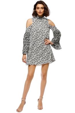 Elliatt - Poet Dress - Black White - Front