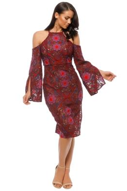 Elliatt - Renaissance Dress - Red Floral - Front