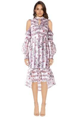 Elliatt - Versailles Dress - Violet Print - Front