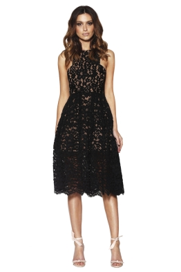 Grace & Hart - Embrace Floaty Midi - Black - Front
