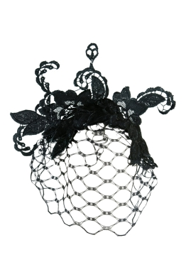 Morgan & Taylor - Portia Fascinator With Veil - Front