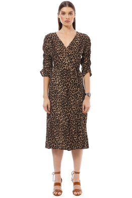 Faithfull the Brand - Anne Marie Midi Dress - Leopard Print - Front