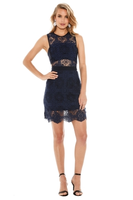 Fame And Partners - Midnight Fling Dress - Blue - Front