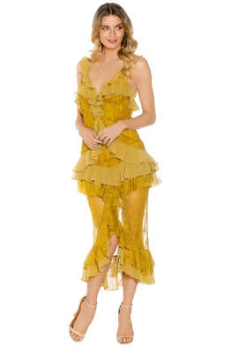 For Love and Lemons - Daphne Midi Dress - Yellow - Front
