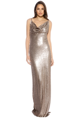 Gemeli Power - Fishcale Dupey Gown - Bronze -  Front