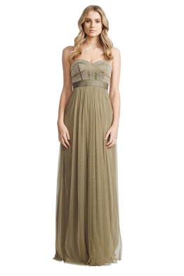George - Olive Pixel Gown - Front - Green