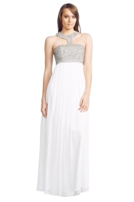 George - Ellena Gown - White - Front