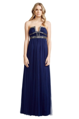 George - Hailey Gown - Front - Blue