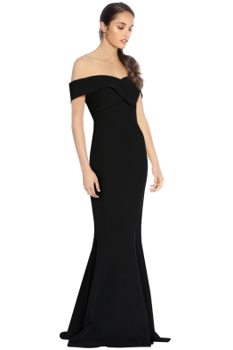 George - Jacinta Gown - Black - Side
