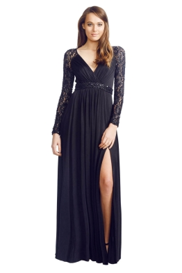 George - Julia Gown - Front - Black