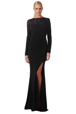 George - Kiara Gown - Black - Front