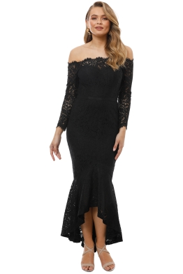 George - Sofia Mermaid Hem - Black - Front