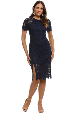 George - Victoria Dress - Navy - Front